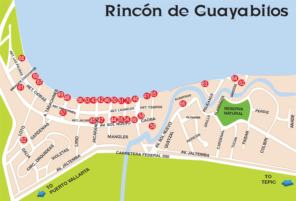Ricon de Guayabitos maps