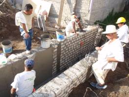 Building retaining walls for drainage